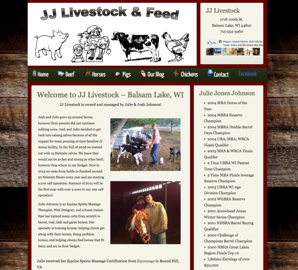 JJ Livestock - Icon's in Drop Down Navigation