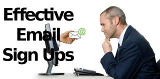 Effective Email Sign Ups