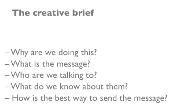 A Creative Briefing