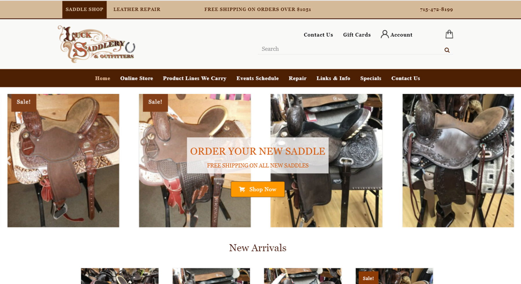 Website Design For Luck Saddlery & Outfitters in Luck